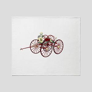 Hose cart drawing 2 Throw Blanket
