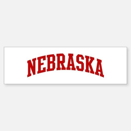 NEBRASKA (red) Bumper Bumper Bumper Sticker