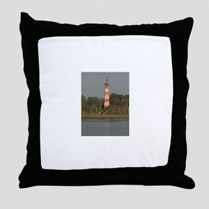 Asateague lighthouse (rustic) Throw Pillow