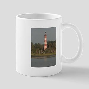 Asateague lighthouse (rustic) Mugs