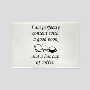 Good Book And Coffee Rectangle Magnet