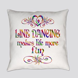 Line Dancing More Fun Everyday Pillow