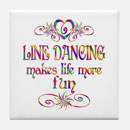 Line Dancing More Fun Tile Coaster