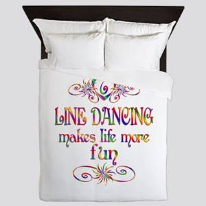 Line Dancing More Fun Queen Duvet