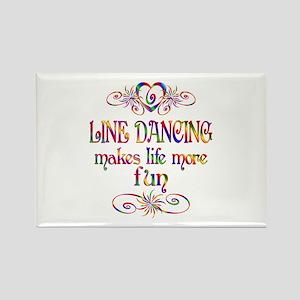 Line Dancing More Fun Rectangle Magnet
