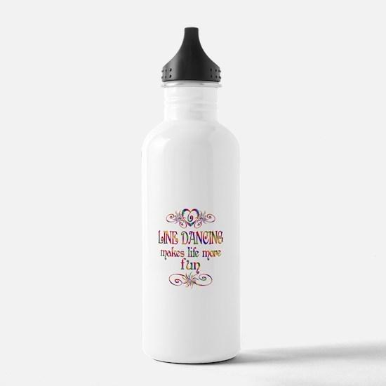 Line Dancing More Fun Water Bottle