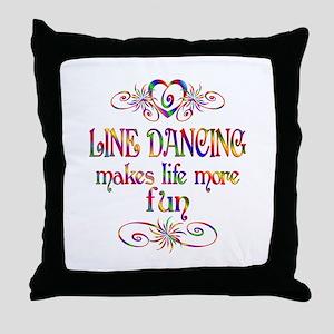 Line Dancing More Fun Throw Pillow