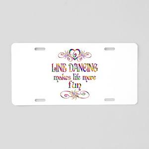 Line Dancing More Fun Aluminum License Plate