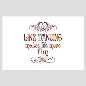 Line Dancing More Fun Large Poster