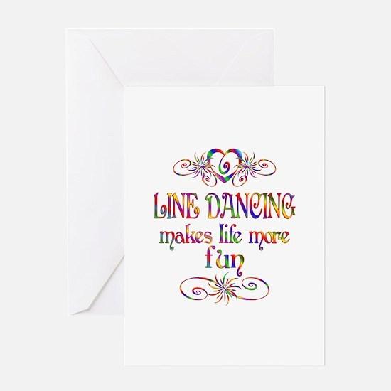 Line Dancing More Fun Greeting Card