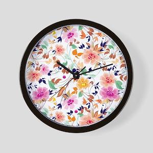Vintage Flowers Pattern Wall Clock
