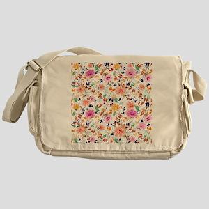Vintage Flowers Pattern Messenger Bag