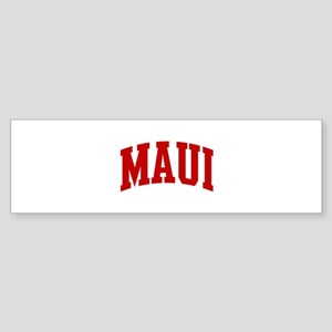 MAUI (red) Bumper Sticker