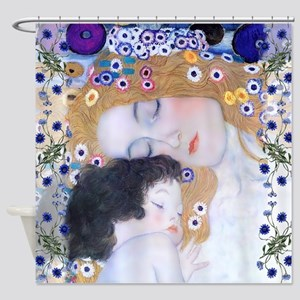 Klimt ' Mother & Child Shower Curtain