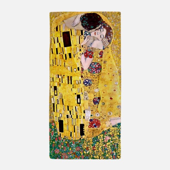 Klimt 'the Kiss' Lovers Beach Towel