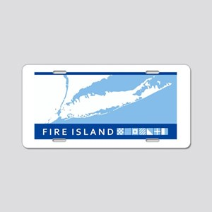 Fire Island - Long Island. Aluminum License Plate