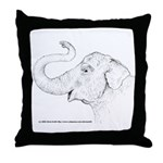 Tricia the Indian Elephant Throw Pillow
