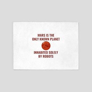 Mars Robot 5'x7'Area Rug
