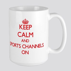 Keep Calm and Sports Channels ON Mugs