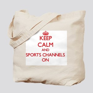 Keep Calm and Sports Channels ON Tote Bag