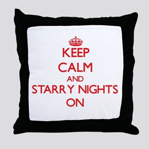Keep Calm and Starry Nights ON Throw Pillow