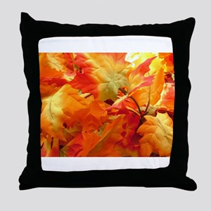 Bright fall leaves Throw Pillow