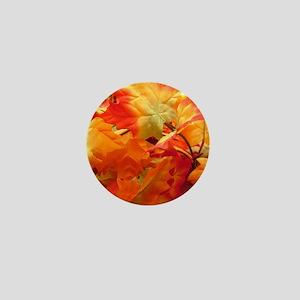 Bright fall leaves Mini Button