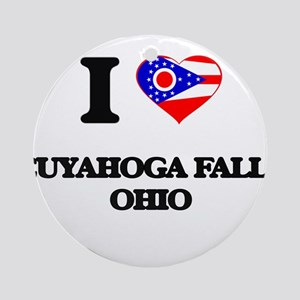 I love Cuyahoga Falls Ohio Ornament (Round)