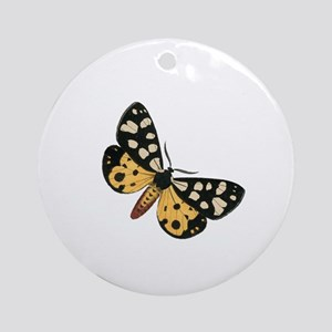 Vintage Butterfly Round Ornament