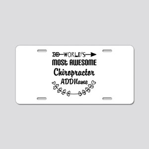 Personalized Worlds Most Aw Aluminum License Plate