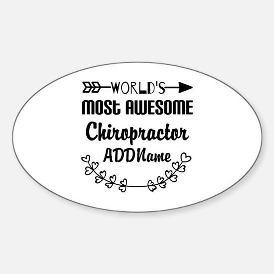 Personalized Worlds Most Awesome Ch Sticker (Oval)