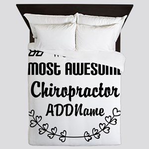 Personalized Worlds Most Awesome Chiro Queen Duvet