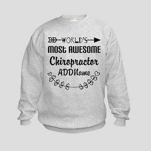 Personalized Worlds Most Awesome C Kids Sweatshirt