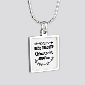 Personalized Worlds Most A Silver Square Necklace
