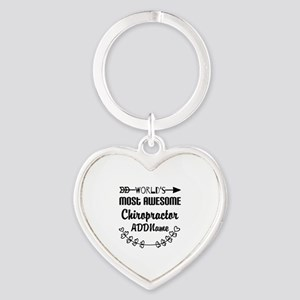 Personalized Worlds Most Awesome Ch Heart Keychain