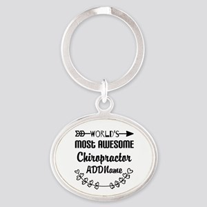 Personalized Worlds Most Awesome Chi Oval Keychain