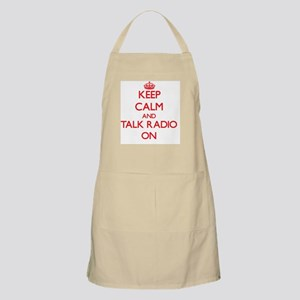Keep Calm and Talk Radio ON Apron