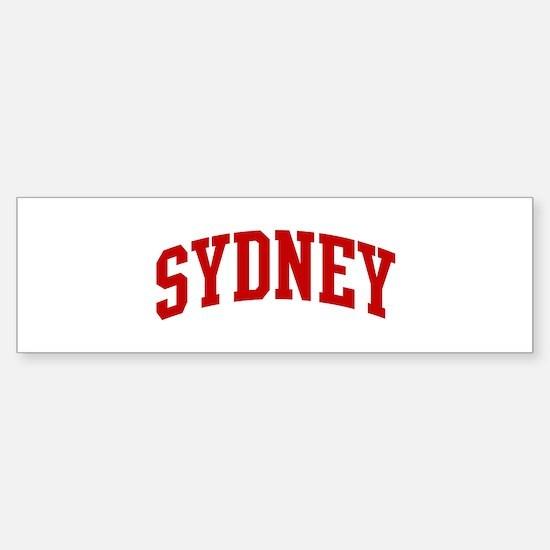 SYDNEY (red) Bumper Bumper Bumper Sticker