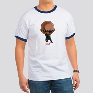 Nick Fury Stylized Ringer T