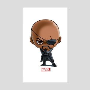 Nick Fury Stylized Sticker (Rectangle)
