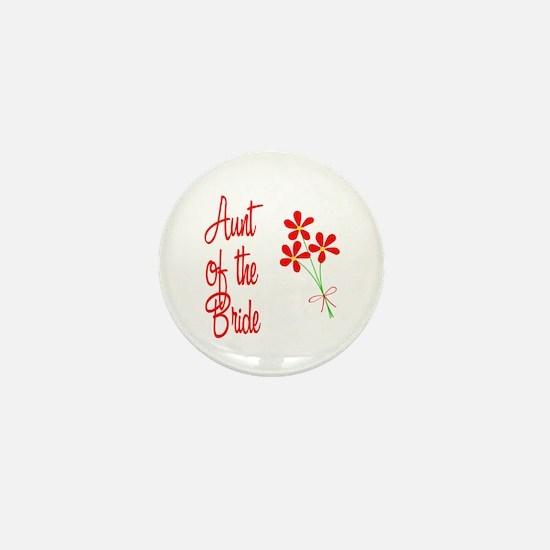Bouquet Bride's Aunt Mini Button