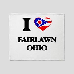 I love Fairlawn Ohio Throw Blanket