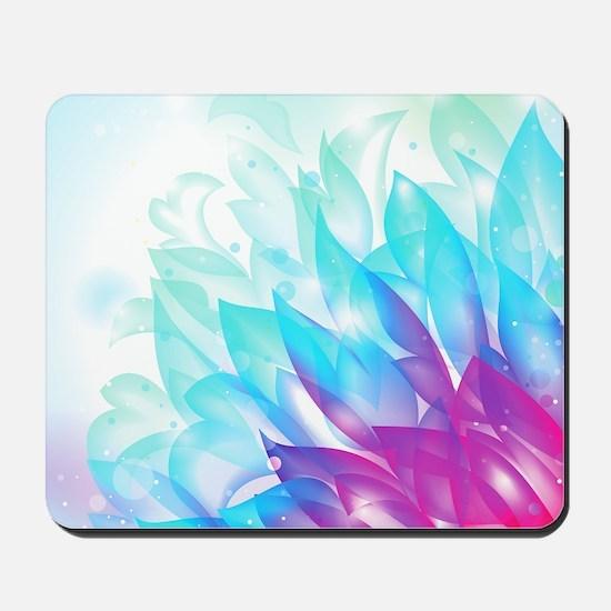Abstract Dream Flower Blue Pink Art Mousepad