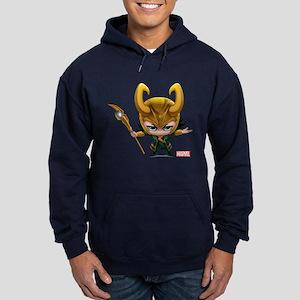 Loki Stylized Hoodie (dark)