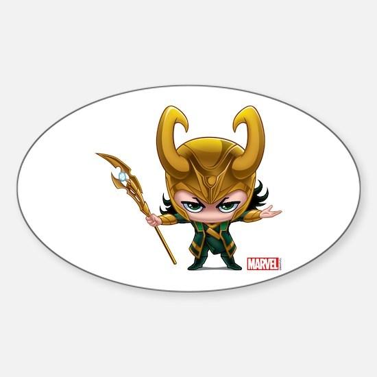 Loki Stylized Sticker (Oval)