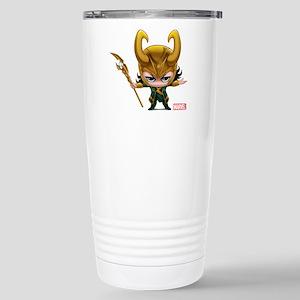 Loki Stylized Stainless Steel Travel Mug