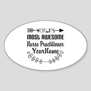 World's Most Awesome Nurse Practit Sticker (Oval)