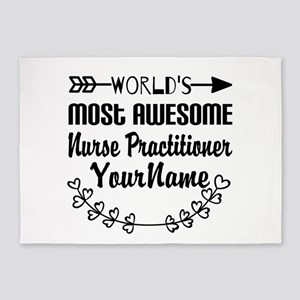 World's Most Awesome Nurse Practit 5'x7'Area Rug