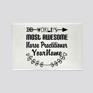 World's Most Awesome Nurse Pract Rectangle Magnet