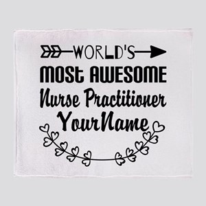 World's Most Awesome Nurse Practiti Throw Blanket